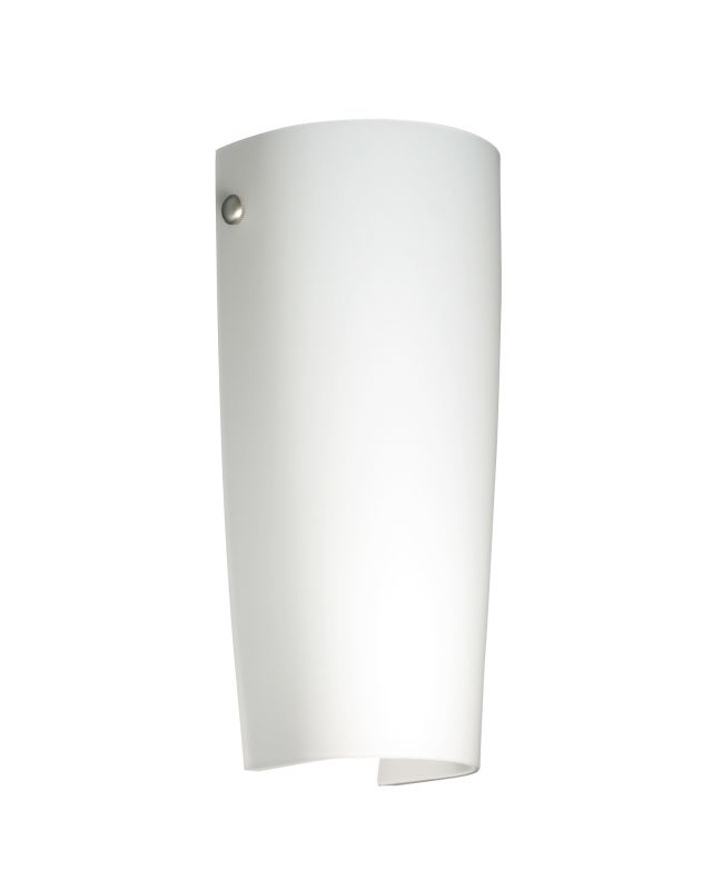 Besa Lighting 704107 Tomas 1 Light ADA Compliant Wall Sconce with Opal