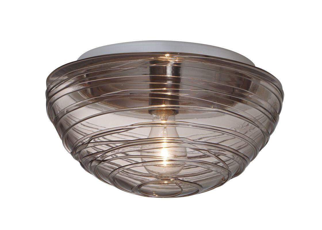 Besa Lighting 906202C Wave 1 Light Flush Mount Ceiling Fixture with