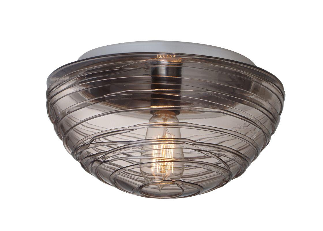 Besa Lighting 906202C-EDI Wave 1 Light Flush Mount Ceiling Fixture