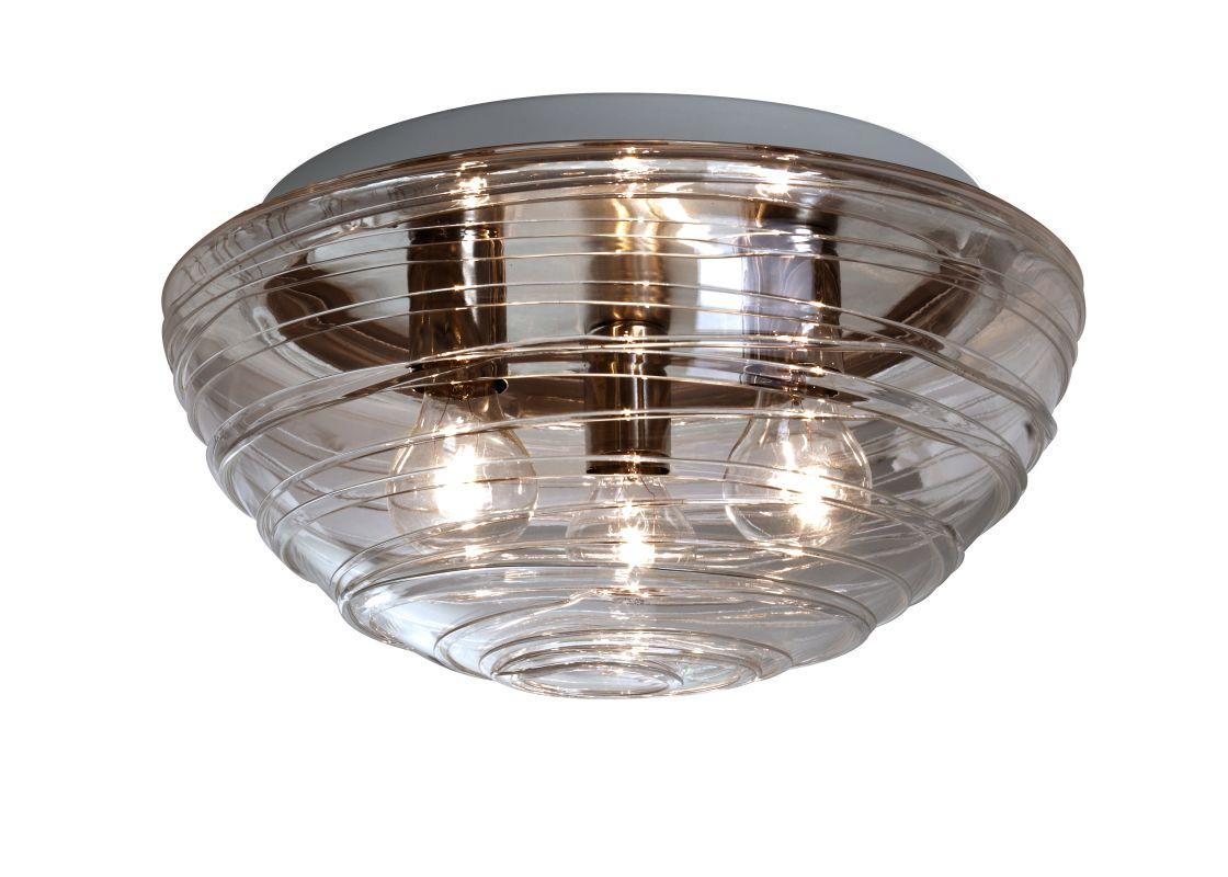 Besa Lighting 906302C Wave 3 Light Flush Mount Ceiling Fixture with