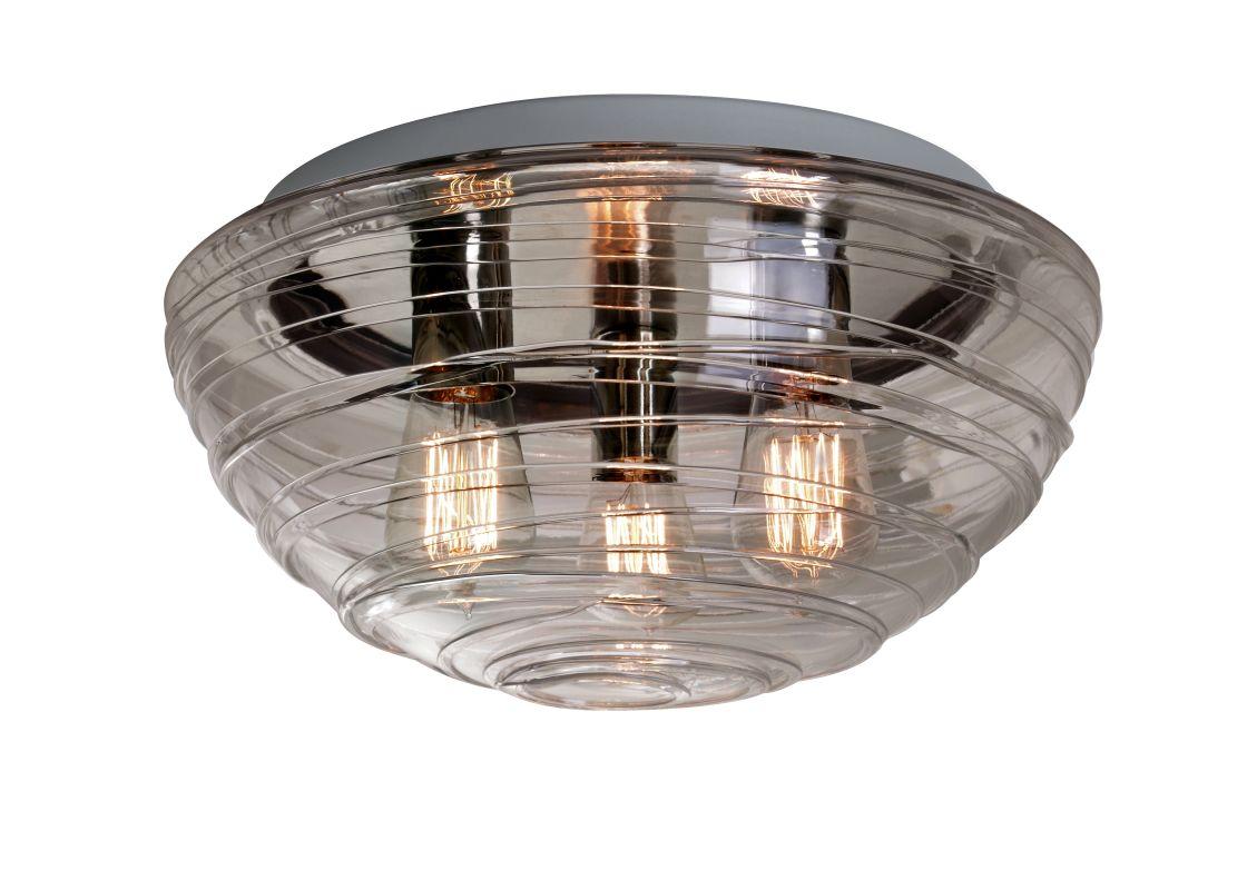 Besa Lighting 906302C-EDI Wave 3 Light Flush Mount Ceiling Fixture