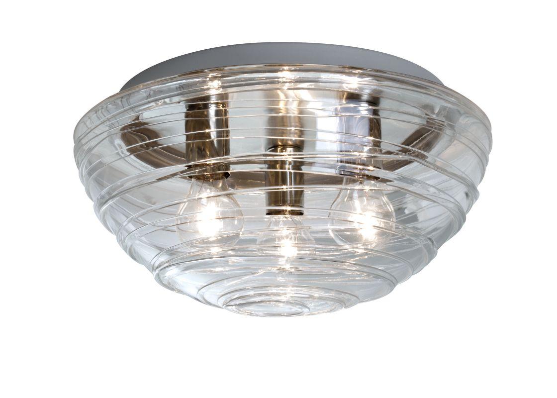 Besa Lighting 906361C Wave 3 Light Flush Mount Ceiling Fixture with