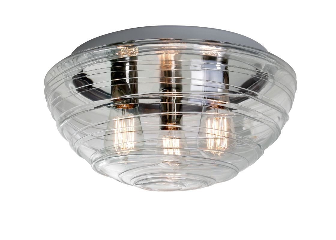 Besa Lighting 906361C-EDI Wave 3 Light Flush Mount Ceiling Fixture Sale $328.50 ITEM: bci2272724 ID#:906361C-EDI UPC: 767893921255 :
