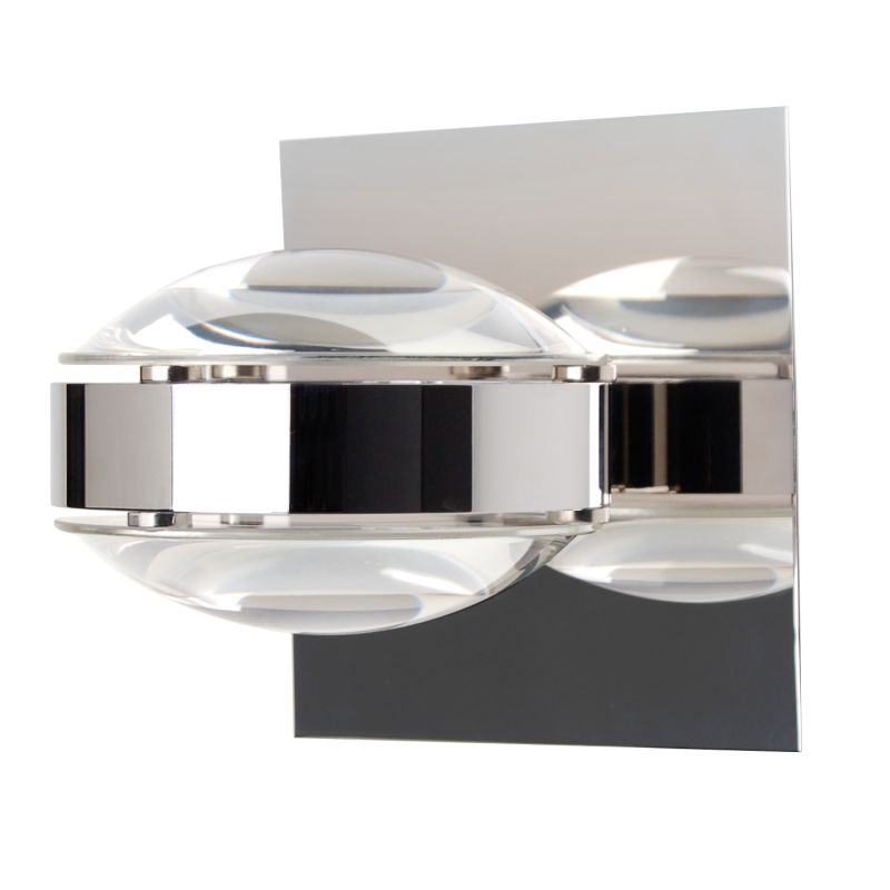 Besa Lighting OPTOS1W-CLCL Optos 1 Light Halogen Wall Sconce with