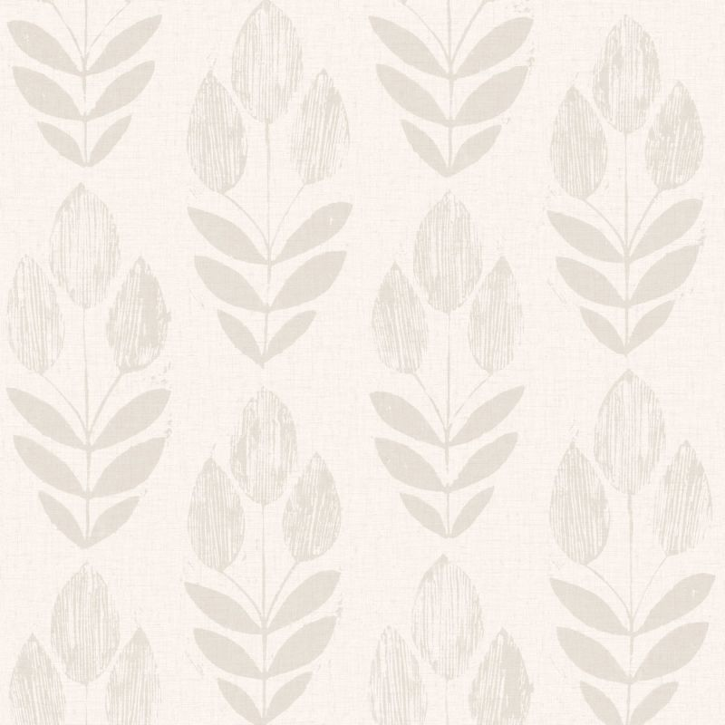 Brewster 2532-20650 Skye Grey Block Print Tulip Wallpaper Skye Grey