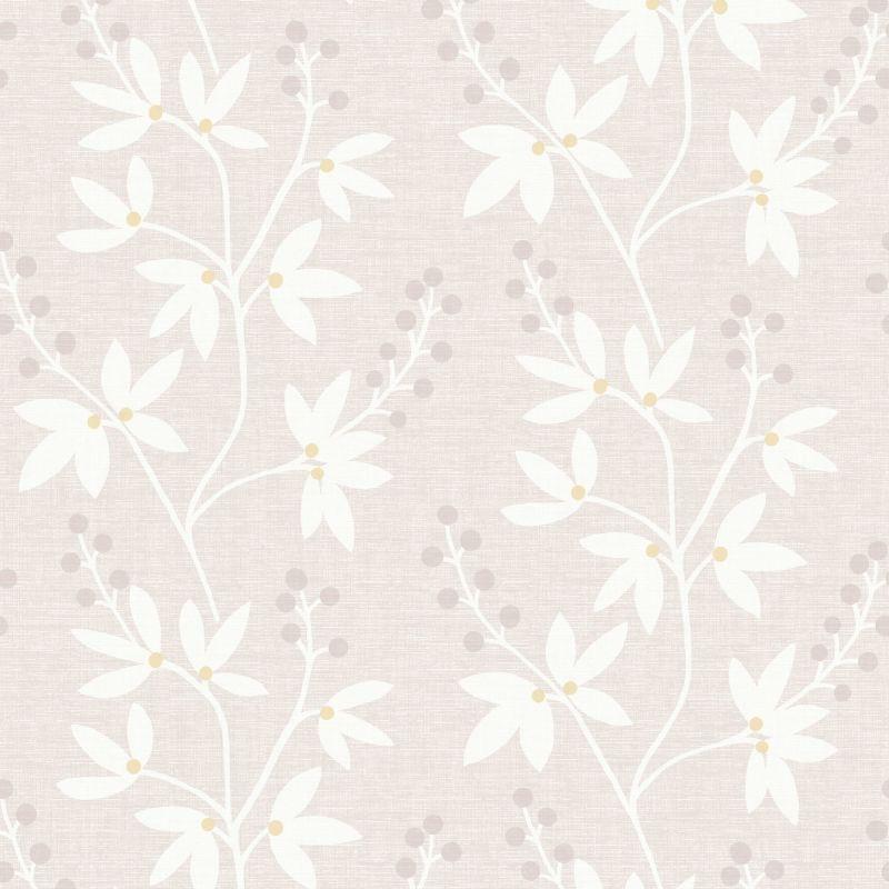 Brewster 2535-20612 Currant Beige Botanical Trail Wallpaper Beige Home
