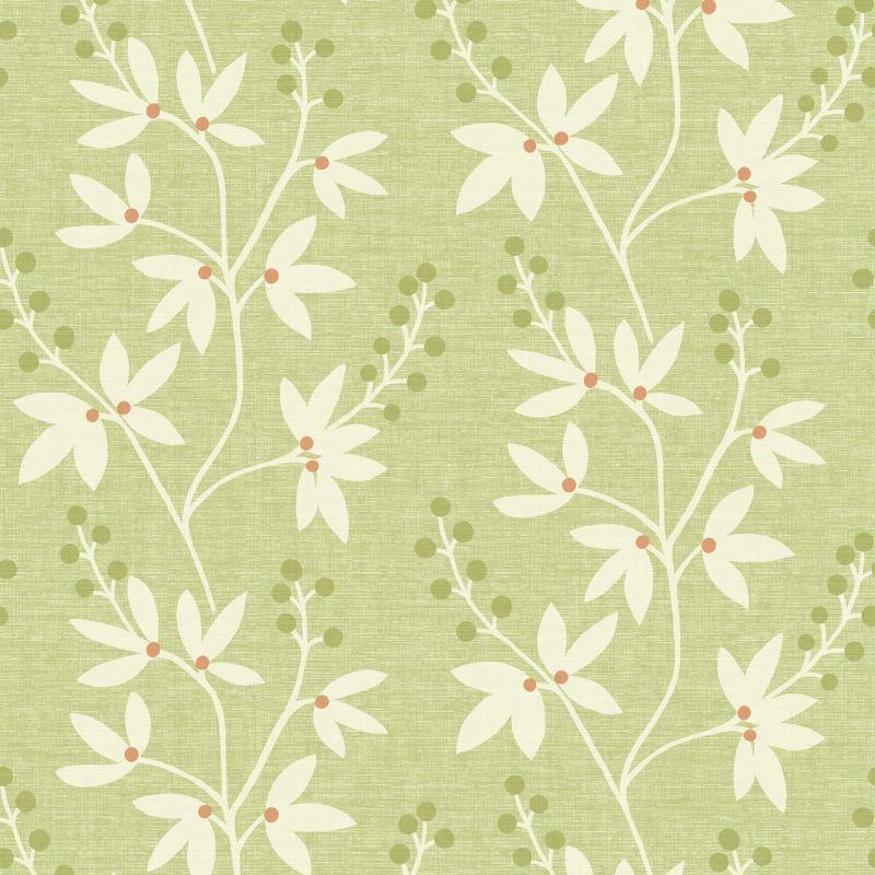 "Brewster 2535-20613-SAM 8""x 10"" Sample of 2535-20613 Green Wallpaper"