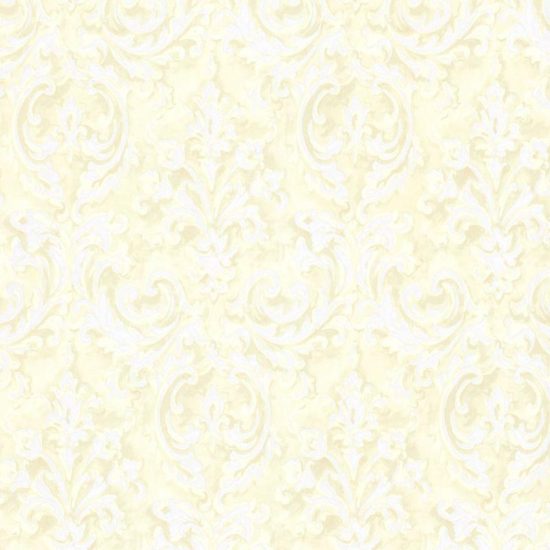 Brewster 2605-21611 Aurora Yellow Damask Wallpaper Yellow Damask Home