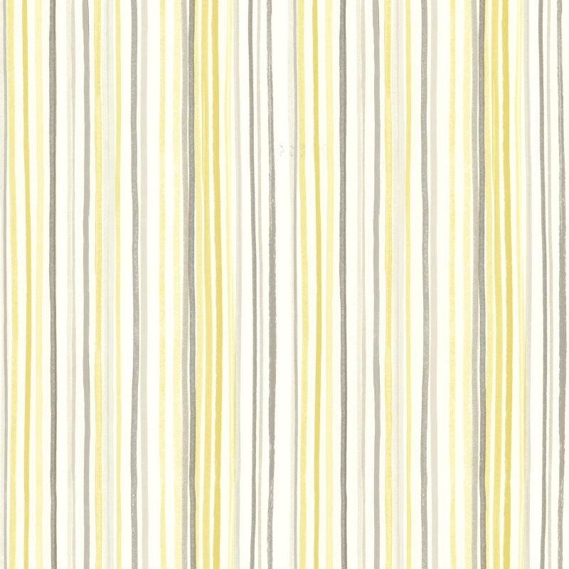 Brewster 2605-21633 Estelle Yellow Watercolor Stripe Wallpaper Yellow