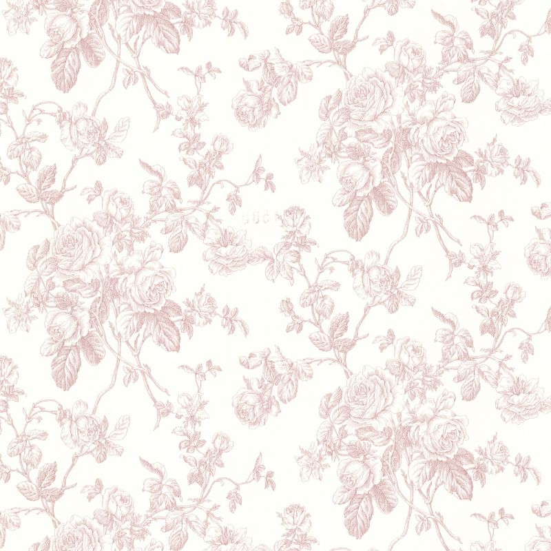 Brewster 2668-21501 Louisa Rose Rose Trail Wallpaper Rose Rose Home