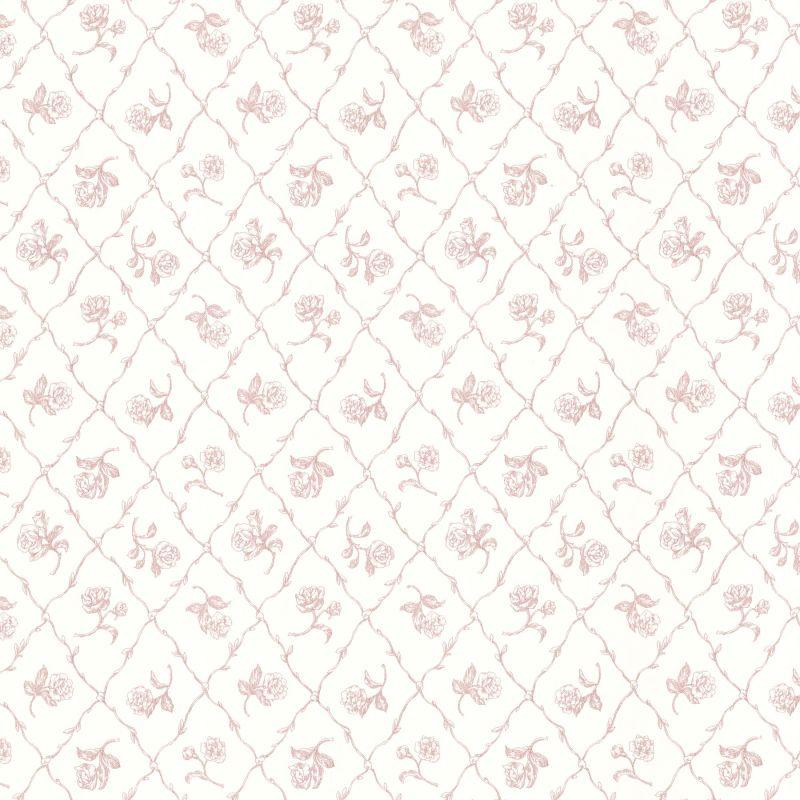Brewster 2668-21506 Marianne Rose Rose Trellis Wallpaper Rose Rose
