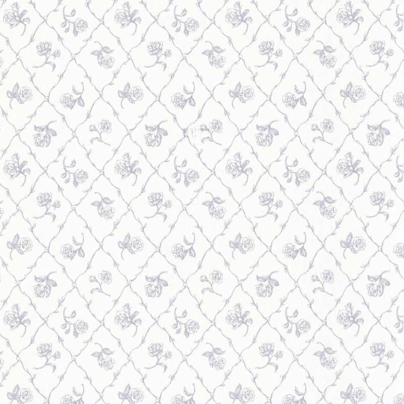 "Brewster 2668-21508-SAM 8""x 10"" Sample of 2668-21508 Blue Rose Trellis Sale $2.00 ITEM: bci2753495 ID#:2668-21508-SAM :"