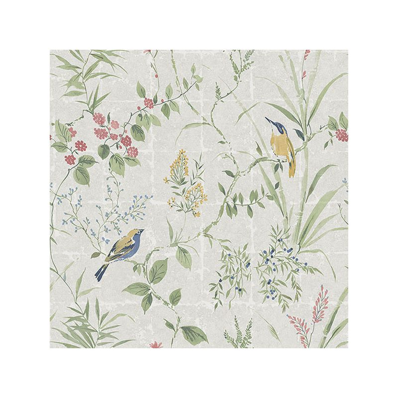 Brewster 2669-21400 Imperial Cream Garden Chinoiserie Wallpaper Cream
