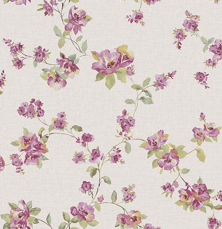 Brewster 2669-21764 Wen Pink Festival Floral Wallpaper Pink Floral