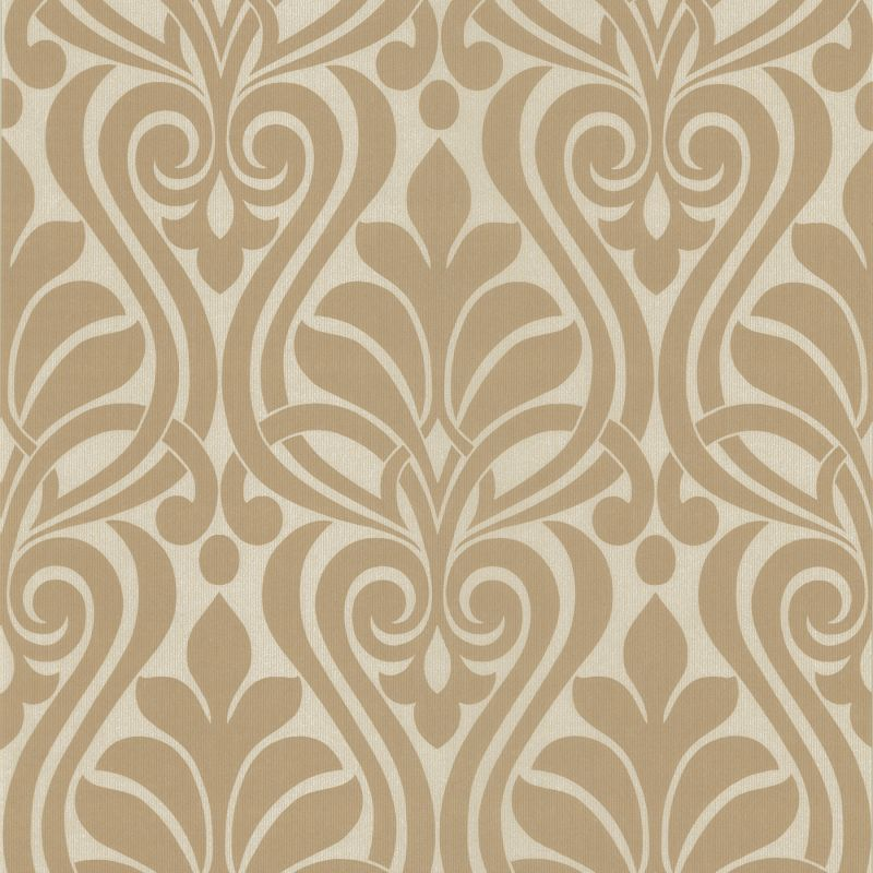 Brewster 295-66516 Amiya Taupe New Damask Wallpaper Taupe Home Decor