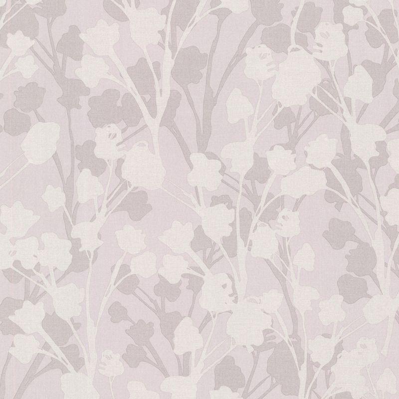 Brewster 347-20125 Lawson Purple Botanical Silhouette Wallpaper Purple