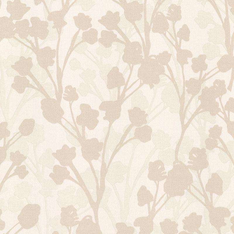 Brewster 347-20128 Lawson Beige Botanical Silhouette Wallpaper Beige
