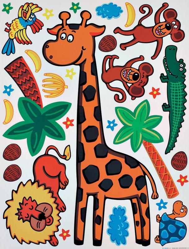 Brewster 350-0113 Kid´s Giraffe Wall Decals Giraffe Home Decor Wall