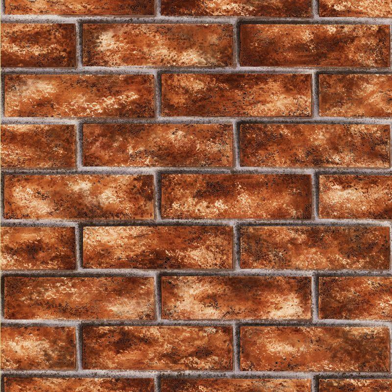 Brewster 412-44145 Urbania Brick Red Brick Texture Wallpaper Brick Red