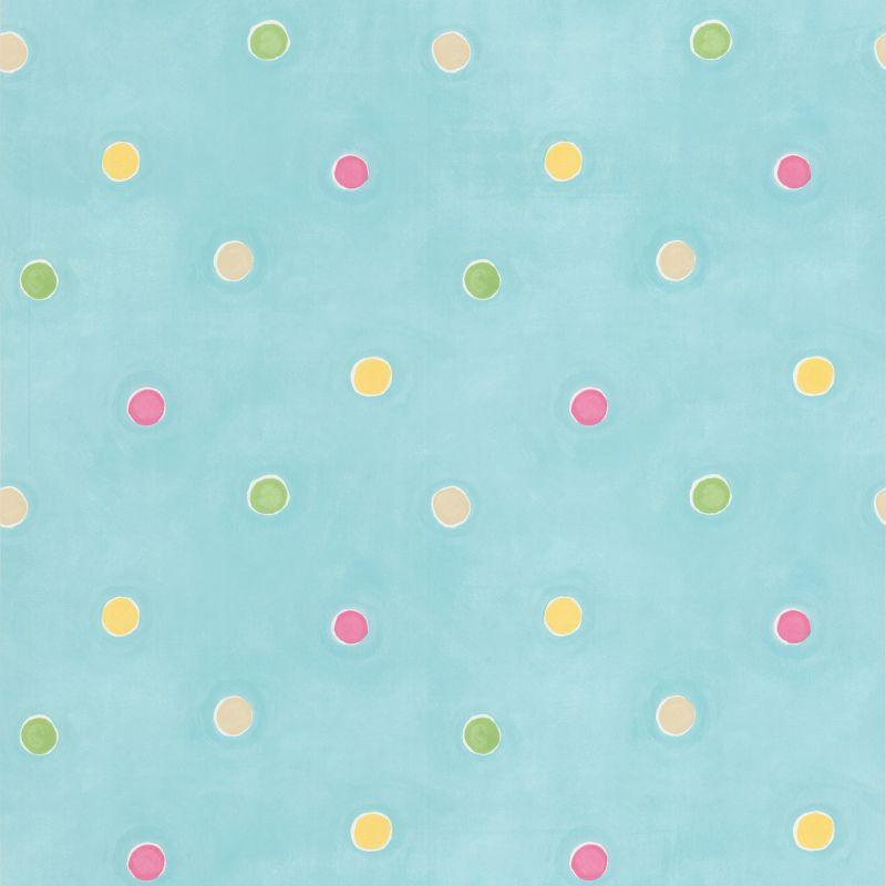 Brewster 443-90518 Sprinkles Aqua Polka Dots Wallpaper Aqua Home Decor