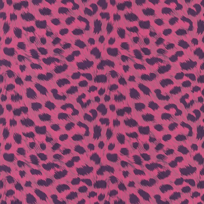 Brewster 443-90543 Kitty Purry Pink Leopard Print Wallpaper Pink Home