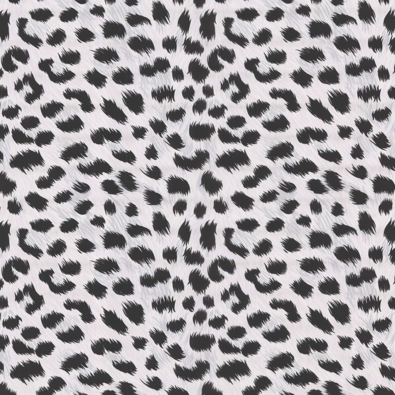 Brewster 443-90545 Kitty Purry White Leopard Print Wallpaper White
