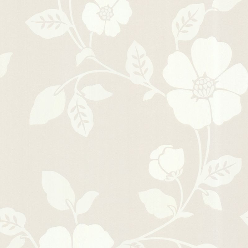 Brewster 450-67324 Zync Cream Modern Floral Wallpaper Cream Floral