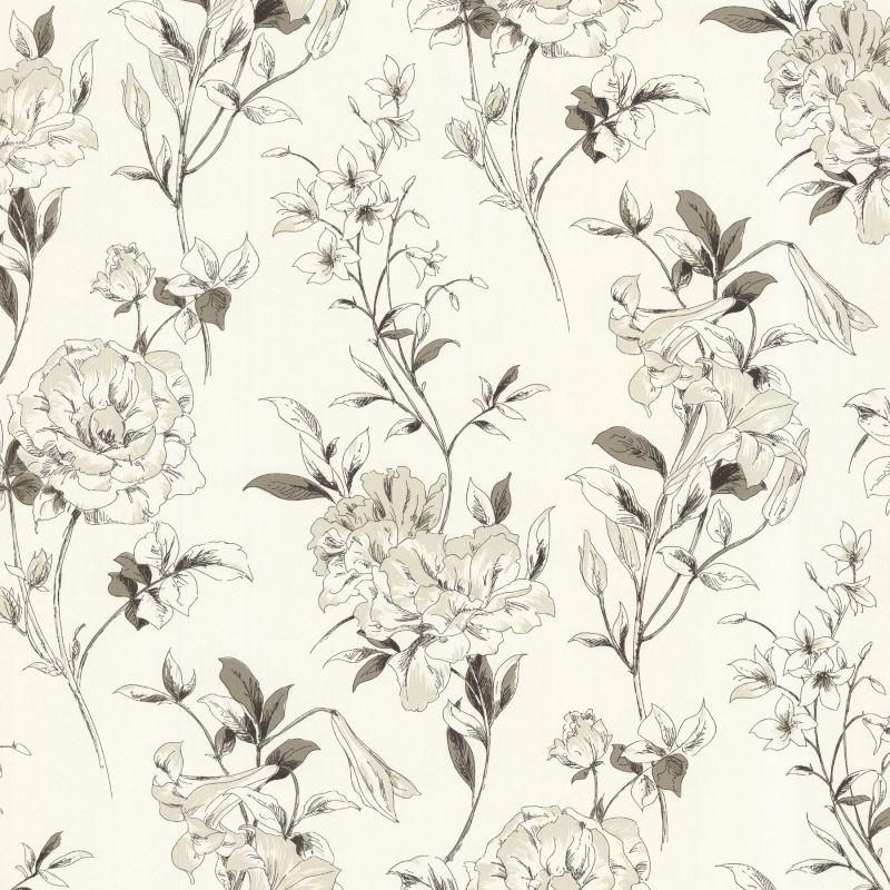 "Brewster 450-67369-SAM 8""x 10"" Sample of 450-67369 Cream Floral Sale $2.00 ITEM: bci2754046 ID#:450-67369-SAM :"