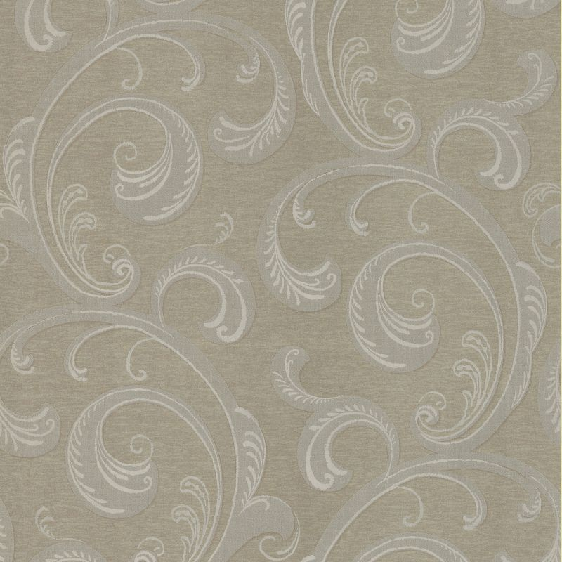Brewster 62-65886 Nijah Sepia Scroll Wallpaper Sepia Home Decor
