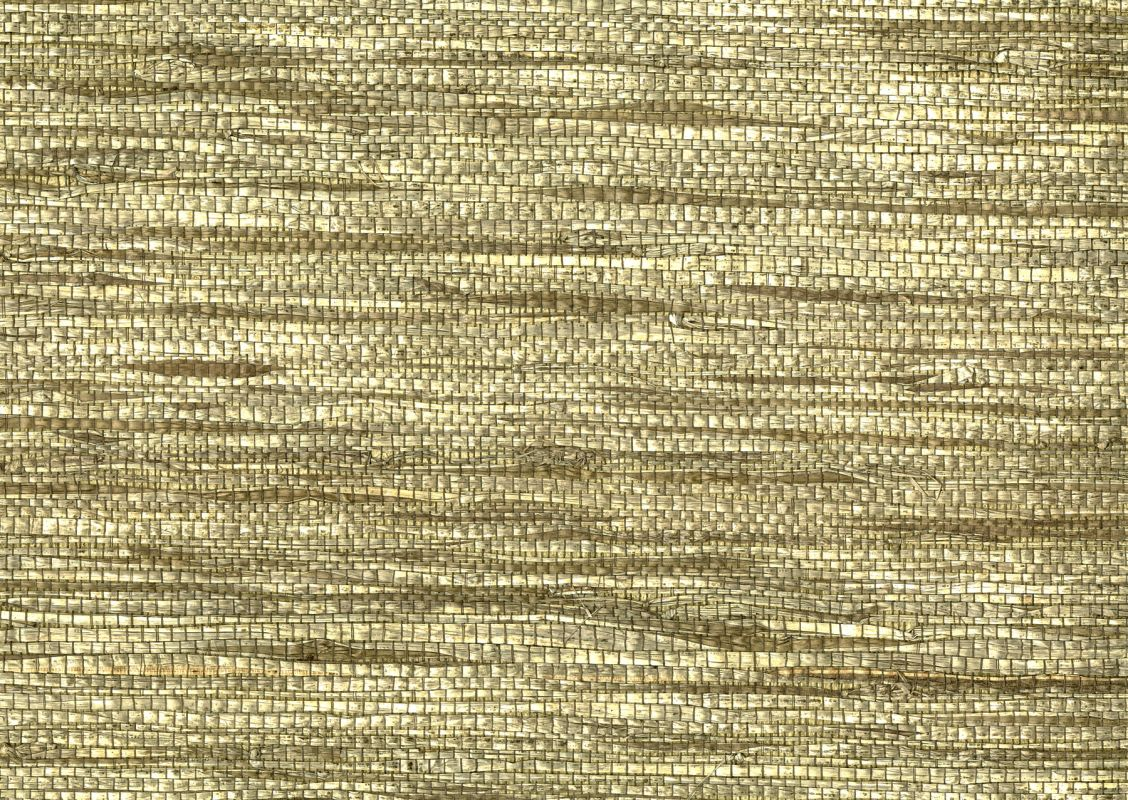 Brewster 63-54702 Huan Yue Taupe Grasscloth Wallpaper Taupe Home Decor