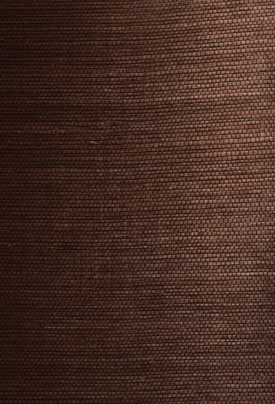 Brewster 63-54721 Xiu Dark Brown Grasscloth Wallpaper Dark Brown Home