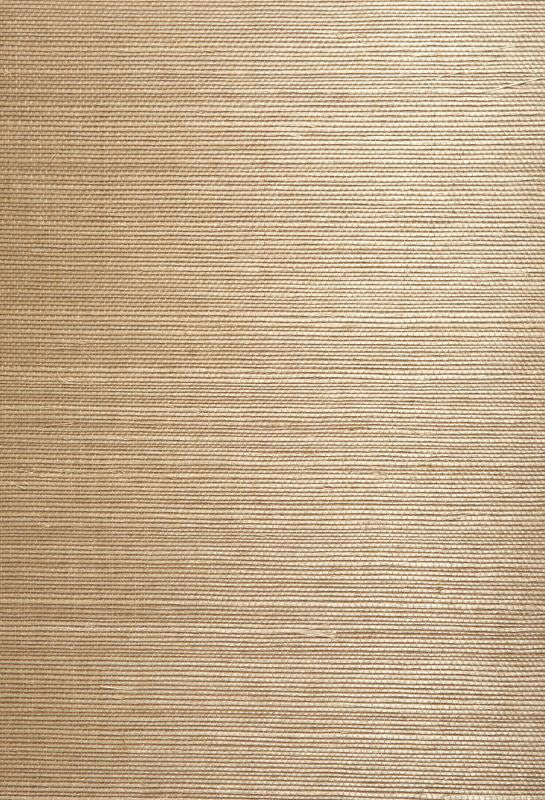 Brewster 63-54741 Chang Taupe Grasscloth Wallpaper Taupe Home Decor