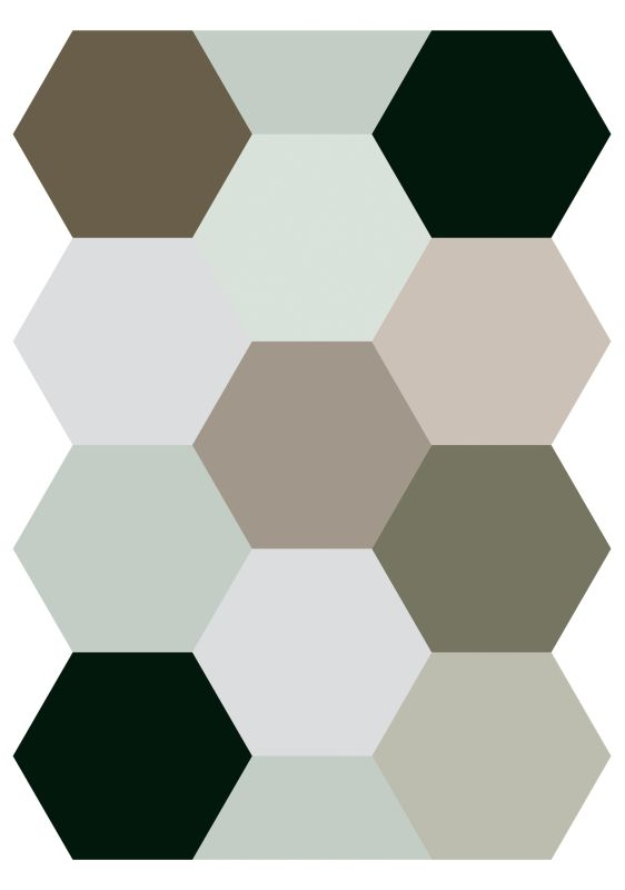 Brewster CR-57716 Hexagons Wall Decal Home Decor Wall Decals