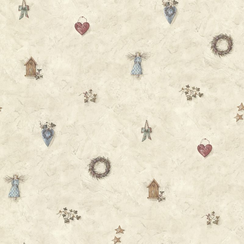 Brewster CTR21712 Apple Creek Stone Country Toss Wallpaper Stone