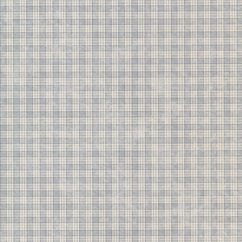 Brewster CTR66307 Sadie Blue Cottage Plaid Wallpaper Blue Cottage Home