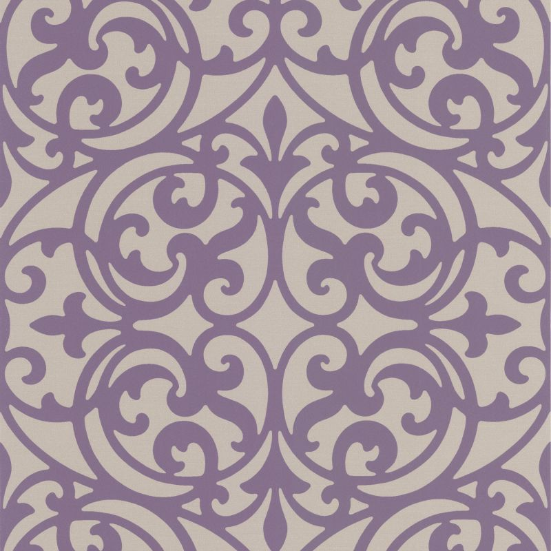 Brewster DL30627 Sonata Purple Ironwork Wallpaper Purple Ironwork Home