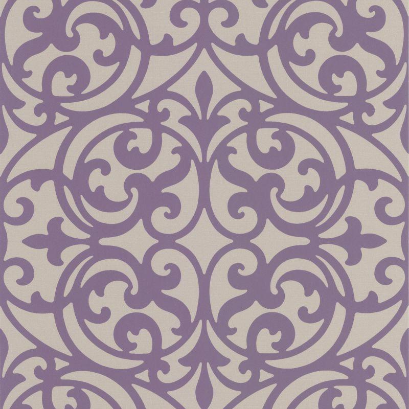 Brewster DL30627 Sonata Purple Ironwork Wallpaper Purple Ironwork Home