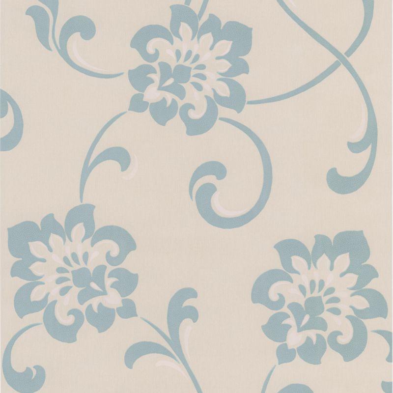 Brewster DL30648 Sharon Aqua Jacobean Floral Wallpaper Aqua Jacobean