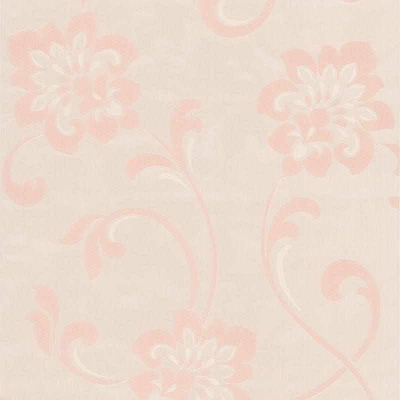 Brewster DL30650 Sharon Pearl Jacobean Floral Wallpaper Pearl Jacobean