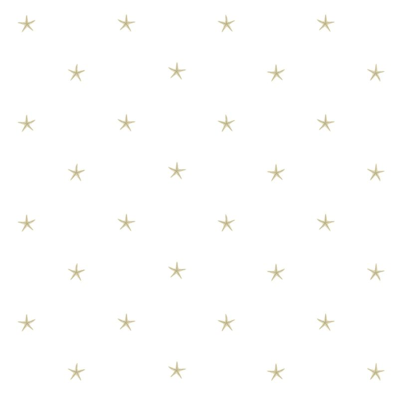 Brewster DLR54543 White Sands Beige Starfish Wallpaper Beige Starfish