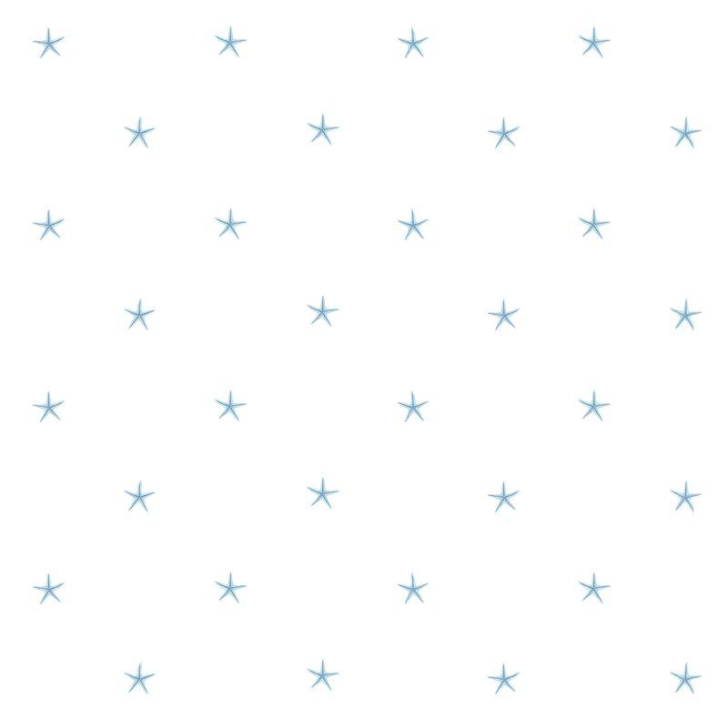 Brewster DLR54544 White Sands Aqua Starfish Wallpaper Aqua Starfish