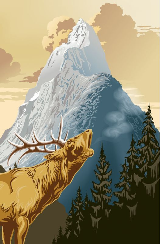 Brewster DM633 King Of The Mountain Wall Mural King Of The Mountain