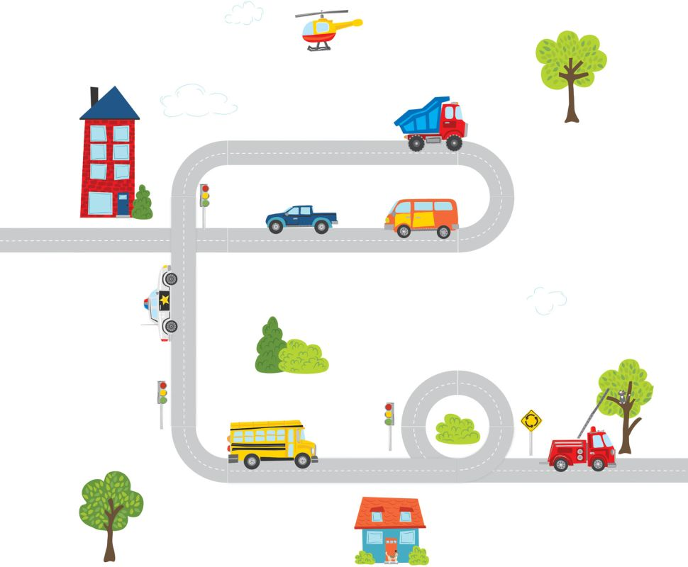 Brewster DWPK1151 Kid´s Around Town Large Wall Art Kit Around Town