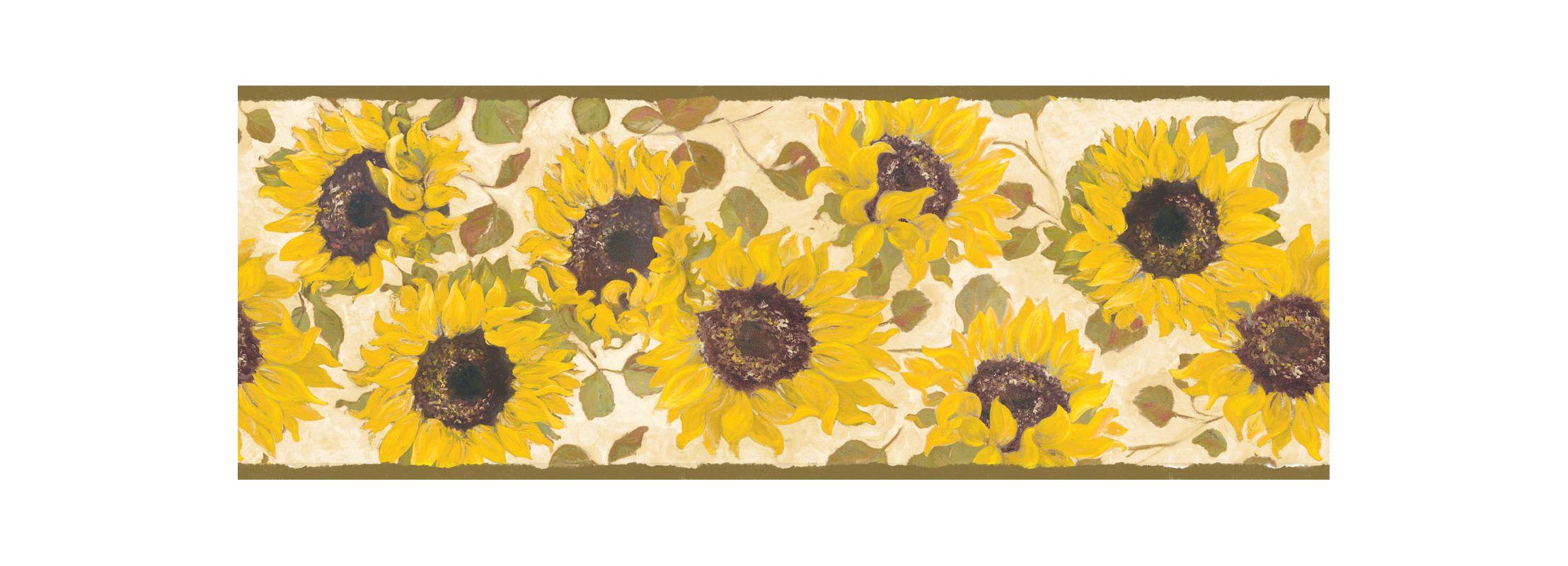 Brewster FFR65411B Yellow Summer Fields Border Wallpaper Yellows Home