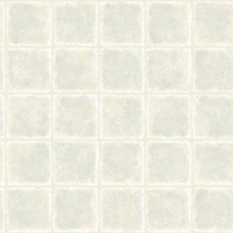 Brewster MEA79032 Gold Leaf Blue Tile Texture Wallpaper Blue Tile Home