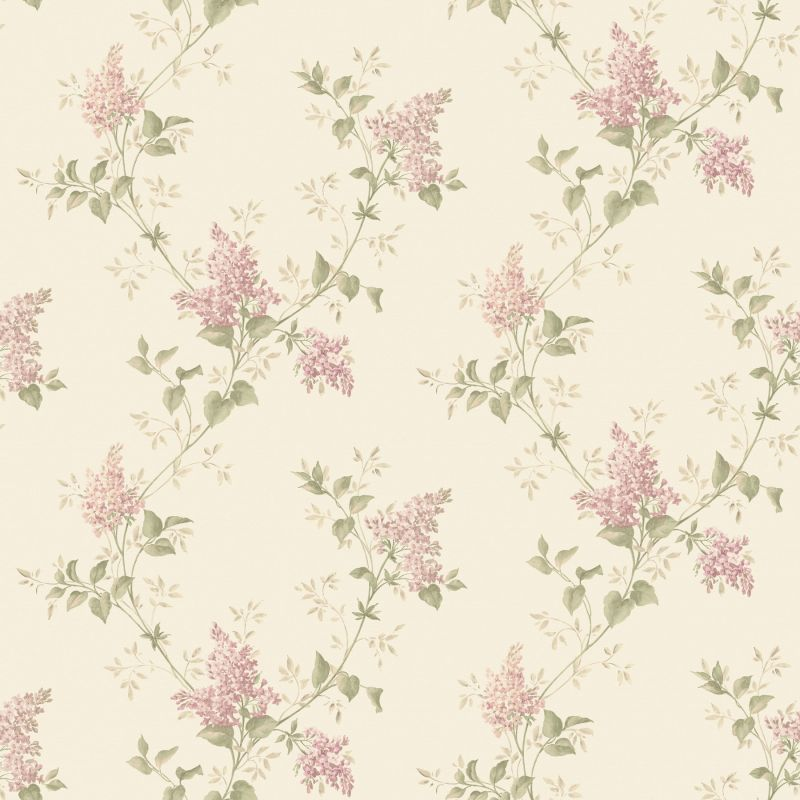 Brewster MEA79043 Ascott Pink Lilac Trail Wallpaper Pink Lilac Home