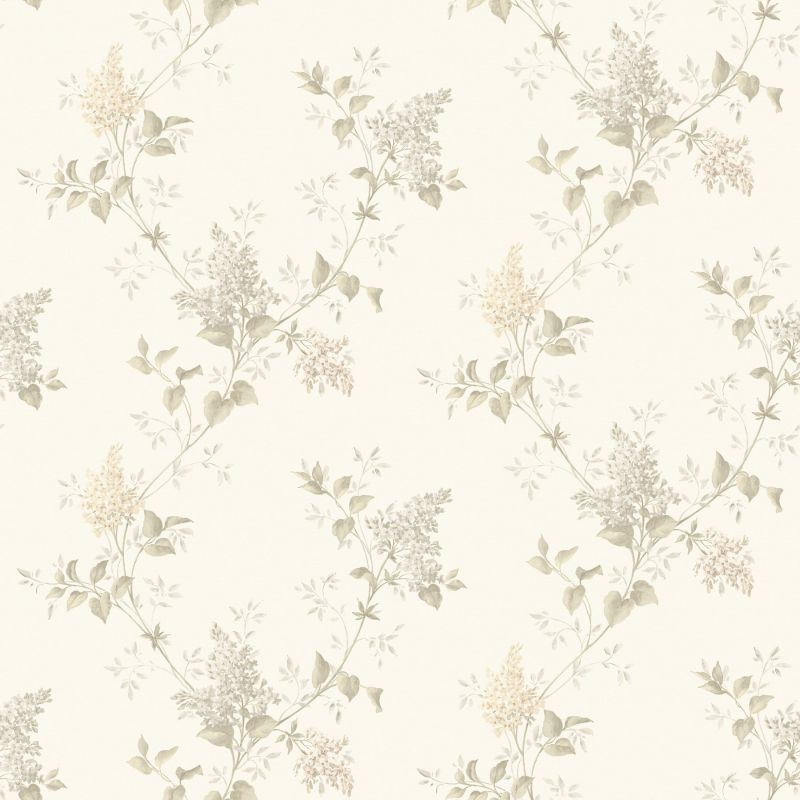 Brewster MEA79045 Ascott Grey Lilac Trail Wallpaper Grey Lilac Home
