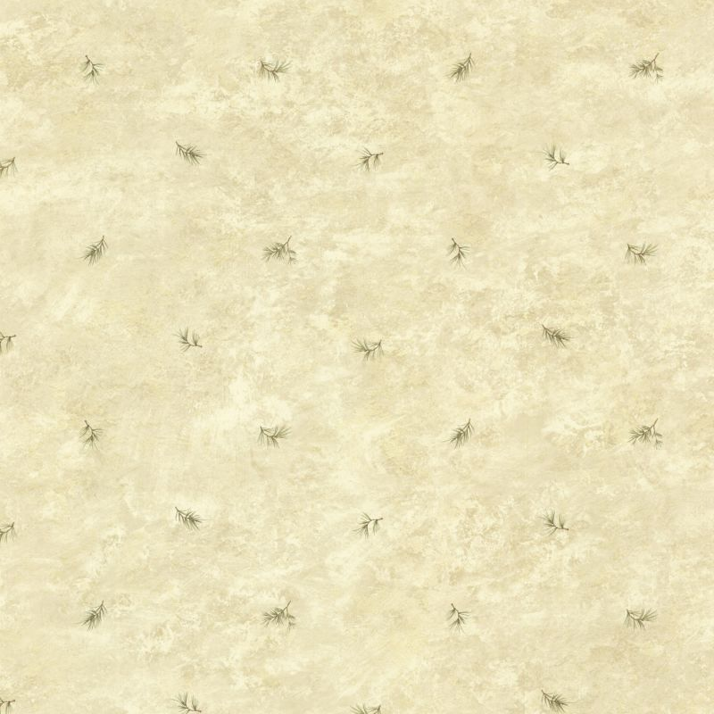 Brewster TLL01482 Pine Valley Sand Sprig Toss Wallpaper Sand Sprig