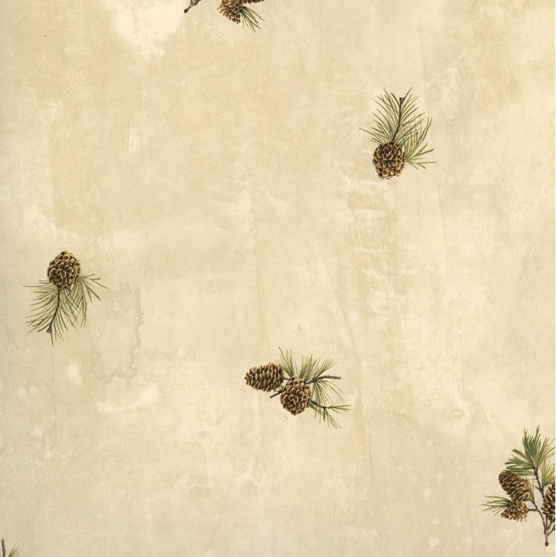 Brewster TLL49463 Brantley Sand Pinecone Toss Wallpaper Sand Pinecone