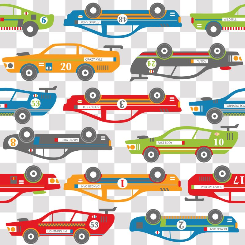 Brewster WP0854 Rally Racers Decor Set Home Decor Wall Decals